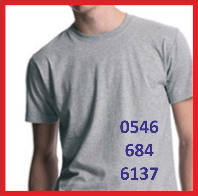 gri tişört baskı